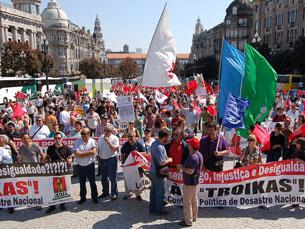 A concentração de grevistas portuenses acontece na praça da Liberdade, às 15h00 Foto: Arquivo JPN