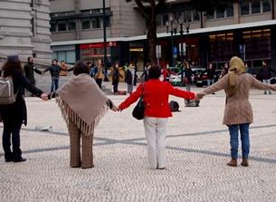 Os manifestantes da Es.Col.A prometem continuar a protestar até alcançarem os seus objetivos Foto: Daniela Neto