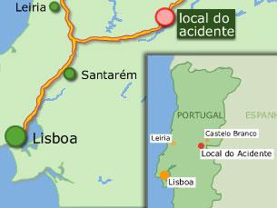 Acidente ocorreu ao quilómetro 77 da A23 no sentido Sul