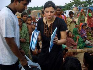 Maria da Conceição tem uma fundação que apoia crianças desfavorecidas em Bangladesh Foto: DR