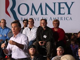 Mitt Romney está, agora, em vantagem na corrida pelas eleições presidenciais norte