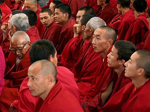 Tibetanos no exílio estão a realizar uma marcha de protesto entre a Índia e o Tibete. Foto: Flickr