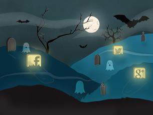São cada vez mais as redes sociais que permitem continuar a vida depois da morte Ilustração: Sara Pimenta
