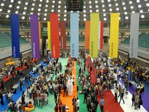 Estudantes e professores universitários dão a conhecer as 14 faculdades da UP à comunidade Foto: UP