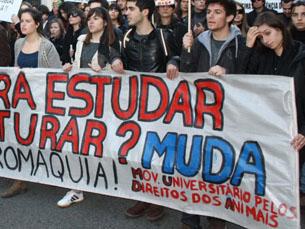 O MUDA foi criado em 2012 e luta pelos direitos dos animais no meio académico Foto: DR