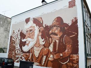 Cavalo, D. Quixote e Sancho Pança moram agora em Miguel Bombarda Foto: Ricardo Lima