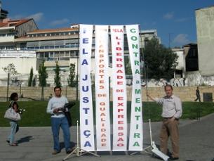 Contra a injustiça social, foi o lema da acção pública do MUT