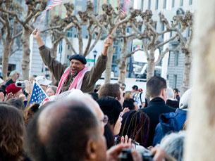 A tomada de posse de Barack Obama foi aclamada por 2 milhões de pessoas Foto: Jennifer Maiser