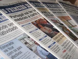 O Primeiro de Janeiro  tem versão online e mantém uma versão em papel Foto: JPN