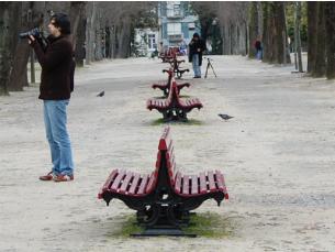 Os participantes percorreram os jardins do Palácio durante 90 minutos Foto: Teresa Castro Viana
