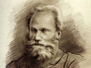 Excerto do retrato de Pavlov por Abel Salazar Imagem: DR