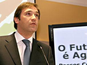 Passos Coelho critica governo pela difícil situação económica do país Foto: DR