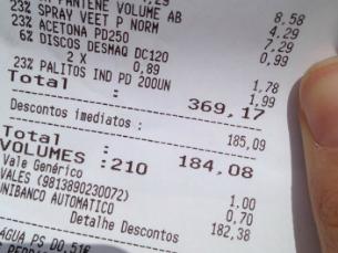 Durante o 1.º de Maio, uma cadeia de supermercados ofereceu 50% de desconto nas compras Foto: DR