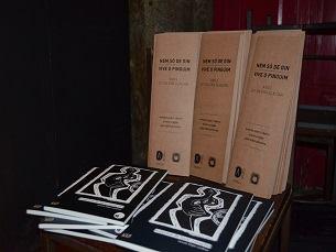 """O terceiro número da coleção """"Nem só de gin vive o Pinguim"""" conta com poemas de António Pedro Ribeiro, Ariana Aragão e João Habitualmente Foto: Sara Rocha"""