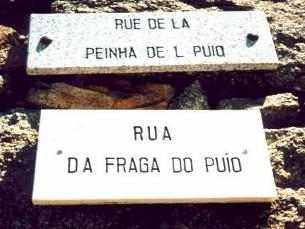 Picote foi a primeira localidade a ter placas toponímicas bilingues. Foto: Reis Lima Quarteu