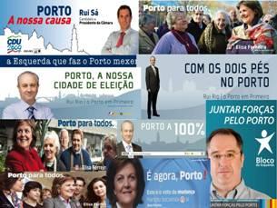 Dos cartazes à Internet, foram várias as formas utilizadas pelos candidatos para fazer campanha Imagem: DR