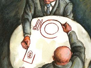 Cartoonista romeno Mihai Ignat foi o vencedor do Grande Prémio Imagem: Mihai Ignat