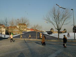 Imagem virtual da intervenção prevista para a Praça de Lisboa Foto: DR