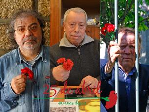 Paulo, Fernando e Jorge foram presos pela PIDE Foto: Afonso Ré Lau