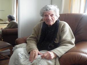 Joaquina Meireles, agora centenária, passou por duas guerras mundiais Foto: Ricardo Dias