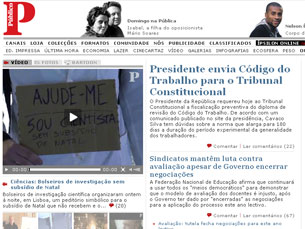 Jornal Público em greve, num período conturbado para a imprensa de todo o mundo Foto: DR