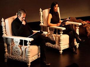Adolfo Luxúria Canibal e Sandra Salomé passaram pelas Quintas em Janeiro como leitores Foto: Sara Moutinho/TCA