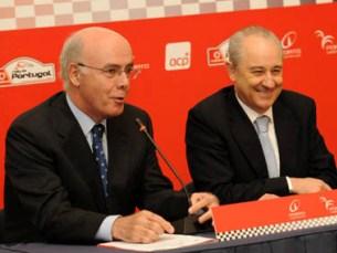 Rui Rio e Carlos Barbosa, presidente da ACP, apresentaram ontem o evento Foto: Rally de Portugal