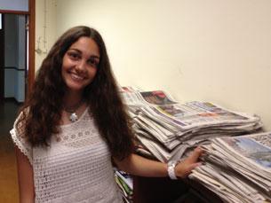Rita Rosa veio de Beja propositadamente para participar na Universidade Júnior Fotos: Inês Meireles