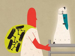 """Miguel Pinto desenvolveu um módulo importante da robótica para o """"RobVigil"""" Ilustração: Sara Pimenta"""