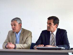 Nuno Santos e Rui Moreira explicaram as suas estratégias de comunicação política Foto: Ana Magalhães