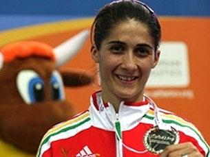 Sara Moreira surpreendeu ao conquistar a prata em Turim Foto : DR