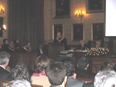 Diminuição das verbas estatais atribuidas às universidades foi um dos pontos do discurso de Marques dos Santos Foto: Hugo Santos