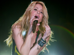 Shakira foi a artista cabeça