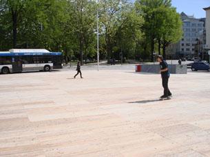 Os skaters são já uma presença emblemática na Casa da Música Foto: Daniel Reifferscheid