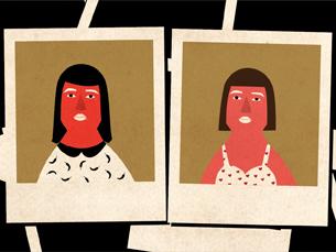 Os sósias fotografados recebem uma cópia impressa da sua fotografia Ilustração: Sara Pimenta