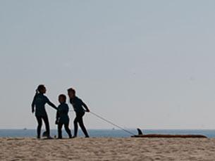 Muitos são os jovens que no Inverno deixam de frequentar as aulas de surf Foto: Tânia Monteiro