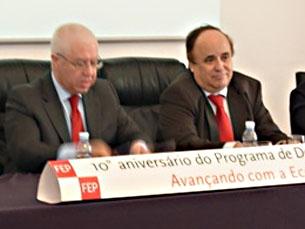 Aula de Teixeira dos Santos assinalou o décimo aniversário do doutoramento em Economia da FEP Foto: Cláudia Cruz