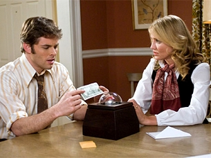 "Cameron Diaz e James Mardsen em ""The Box"""