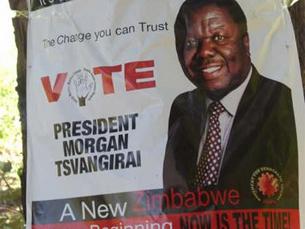 Tsvangirai esteve detido pela polícia zimbabueana durante várias horas Foto: Frontline