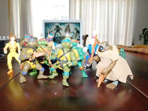 A colecção de figuras das Tartarugas Ninja de Francisco Abrunhosa Foto: Daniel Reifferscheid