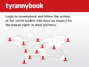 Tyrannybook é propositadamente semelhante ao Facebook Imagem: DR