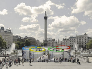 A ideia para o projecto surgiu a partir dos anéis olímpicos Foto: DR