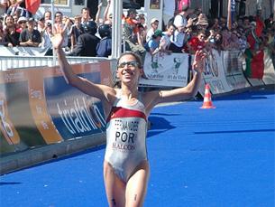 Vanessa Fernandes é uma das esperanças portuguesas nos Jogos Olímpicos de Pequim Foto: Xabier Cid / Wikipedia