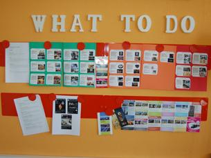 O hostel disponibiliza informações sobre a cidade para os seus hóspedes Foto: Mariana Ascenção