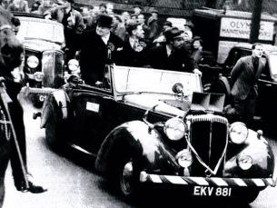 O Daimler foi usado por Winston Churchill em período de campanha, entre 1945 e 1949 Foto: DR