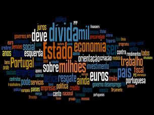 """A maioria dos termos da """"nuvem de palavras"""" do BE estão associados à economia Foto: DR"""