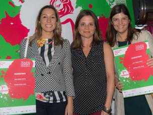 Sofia Cruz (à esquerda) e Teresa Siopa (na ponta direita) estão confiantes para a segunda fase da competição Foto: DR