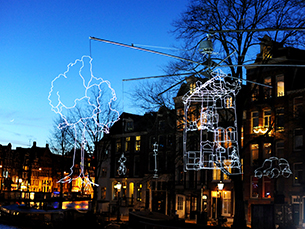 A terceira edição do Amsterdam Light Festival vai ocorrer entre 27 de novembro e 18 de janeiro Foto: Marco Derksen / Flickr