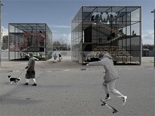 Protótipo de uma habitação desenvolvida para o d3 Housing Tomorrow Foto: DR