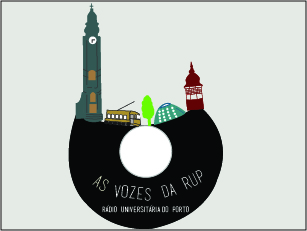 A primeira emissão da Rádio Universitária do Porto foi realizada a 14 de Fevereiro 1986 Ilustração: Joana Inês Moreira